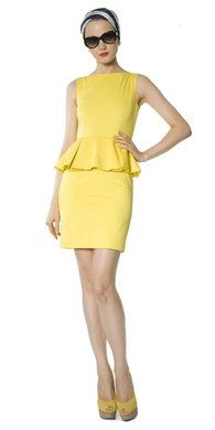 Peplum yellow :)