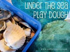 Under the sea playdough - easy playdough recipe with a free ebook of playdough ideas #playdough #playdoh