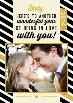 Love with You - New Year Greeting Card in Burst | Magnolia Press