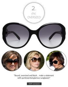 Chic Oversized | Summer 2013 Sunglasses Trends: Make a Statement | The Look | Coastal.com | #theLOOK