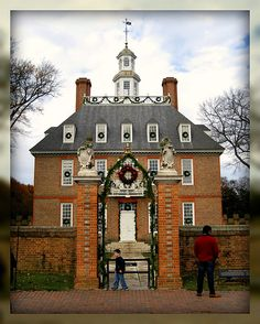 Christmas in picturesque Colonial Williamsburg, Virginia
