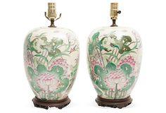 Antique Chinese Lamps, Pair on OneKingsLane.com
