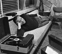 Marlon #Brando listening to records #vintage #vinyl #lp #record #album