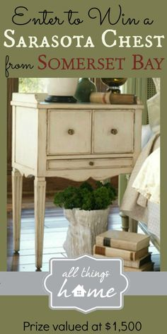 somerset bay, home tours, side tables, decorating ideas, bays, night stands, fall home, bedroom, sarasota