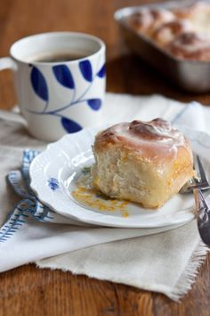 Orange scented sticky buns with olive oil dough
