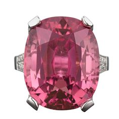 1stdibs.com | Pink Tourmaline & Diamond Ring