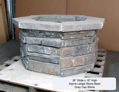 "36"" Custom Stone Gas Fire Pit"