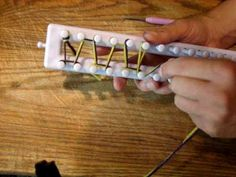 Loom Knit Rib Stitch - Loom Knitting Honey comb stitch video