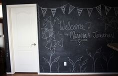 Chalk Board wall// how to