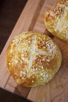 Salted Pretzel Bread Bowls
