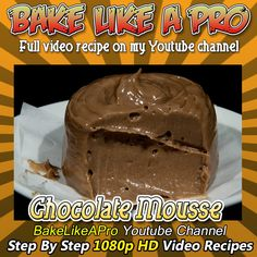 "Whipped Chocolate Ganache Recipe / Easy Chocolate mousse recipe Please SUBSCRIBE: ► http://bit.ly/1ucapVH  I'll show you how I whip my chocolate ganache recipe into a very light and fluffy ""chocolate mousse""  A good trick you can try at home, if making chocolate mousse the traditional way seems a little difficult to do.  This is an egg-free chocolate mousse recipe.  My Facebook Page: http://www.facebook.com/BakeLikeAPro  #chocolate #recipe #dessert"
