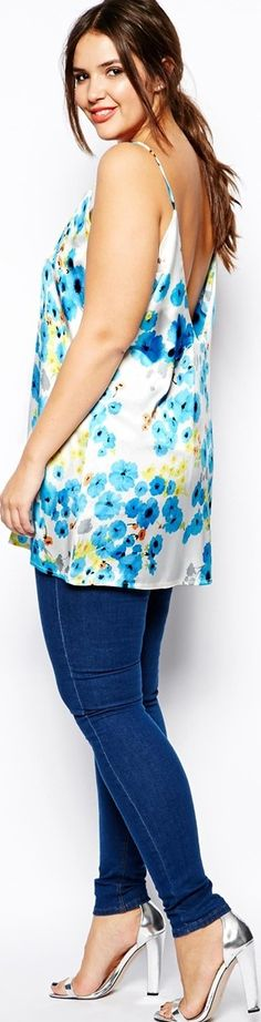 plus size swing top casual floral print for summer #plussize #casual #outfit - read about fashion, getting older, being a boomer, and more at -   http://www.boomerinas.com/2014/08/13/summer-dresses-and-tops-in-plus-sizes-2014-styles/