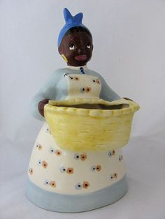 special thing, cooki jar, canist set, vintag planter, black americana, aunt jemima, americana collect