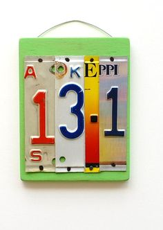 Unique license plate art for a half-marathoner! via @Etsy, $25.00