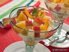 Spiked Italian Fruit Salad - Includes oranges, pears, apples, pineapple, and more!