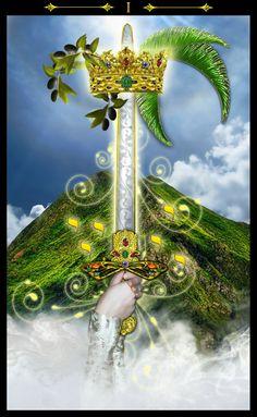 Erik C. Dunne ~ Tarot of the Illuminati: Ace of Swords