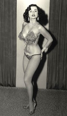 """Dorian Dennis aka. """"Burlesque's Most Beautiful Girl""""..  From of a larger photo series taken by Irving Klaw.."""