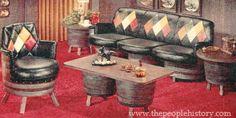 1975 Barrel Living Room Furniture ~