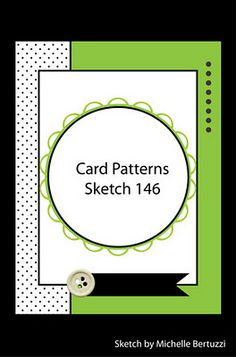 Card Patterns sketch No. 146. #cards #card_making #sketches #crafts