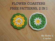 Crochet Daisy/Flower Coaster-  Free Pattern with Photo Tutorial