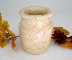 Maple Burl Vase by DebsWoodshop on Etsy, $40.00