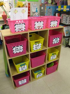 I think this would be great for math centers. Have all my games in bins with all the necessary supplies.