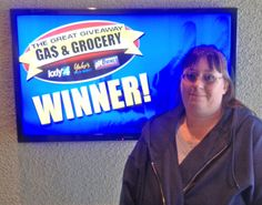 Charlene LaJoices won $100 in The Great Gas & Grocery Giveaway from KXLY4, Divine's & Yokes.