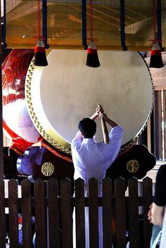 Japanese big Taiko (drums) i would love to try to play those!! BUCKET LIST