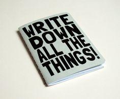 Writer's notebook.