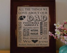 Father's Day Print - We love Dad - What we love about Dad - Gift from Children - Father's Day (da124a)