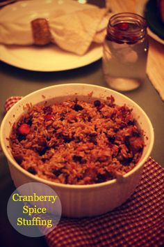 Gluten-Free Entertaining during the Holidays and this GF Cranberry Spice Stuffing Recipe