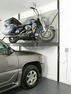 Garage Storage Solutions - Mower / Bike Lift, Popular Mechanics