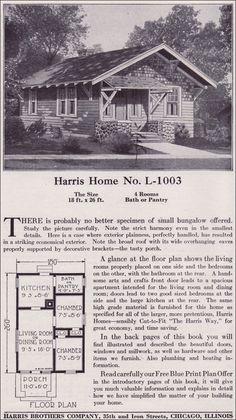 1918 Harris Bros. Co. - Plan No. L-1003