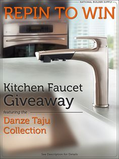 Win a Danze Taju from National Builder Supply! One lucky person will win. Giveaway ends 8/28/13. Good luck! Enter here: http://www.nationalbuildersupply.com/FbookContest/default.html