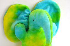 Stuffed Elephant Plushie  Organic Bamboo Velour by BrightLifeToys, $30.00