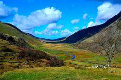 Ogwen Valley looking towards Bangor, North Wales