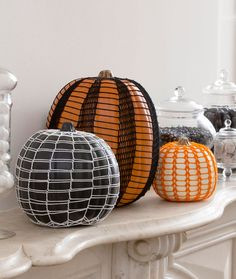 Haunting Lace Pumpkins Free Crochet Pattern from Aunt Lydia's Crochet Thread