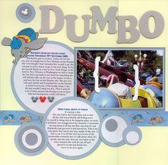 scrapbook layouts, scrapbook disney, pea, galleri, circl, bucket, layout design, dumbo, disney scrapbook