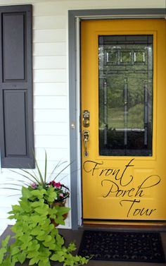 there's that yellow door again- likin the gray trim, too.