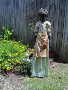Primitive Vacuum Cover Mammy doll 52 tall by Raggedyrhondas,