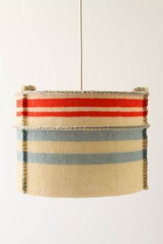 wool blanket lampshade cover