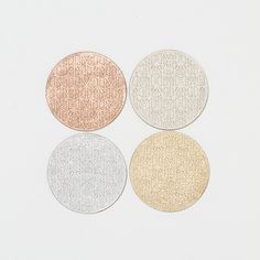 Metallic Leather Coaster Set