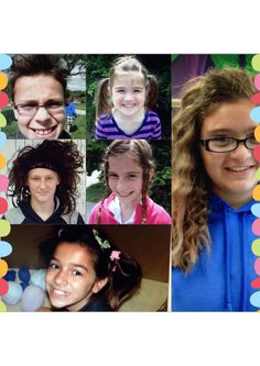 """Students whose class increased their class total in the last 2 weeks of February earned incentives.  This brave and outgoing group celebrated """"Crazy Hair Day"""""""