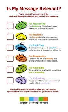 Is My Message Relevant? #nonprofit #branding #marketing #socialmedia #infographic #cause