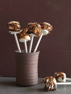 Marshmallow S'mores Pops from FoodNetwork.com