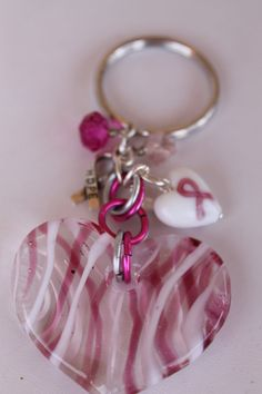 K1 Pink Breast Cancer Awareness Key Chain by KBDesigners on Etsy, $9.00