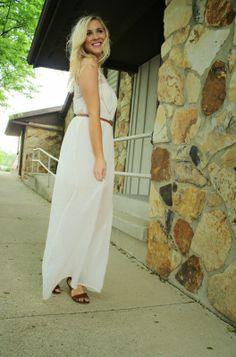 The Daily Sugar in a Deb Shops maxi dress
