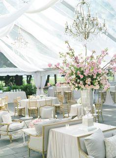 Hints of Blush - very pretty effect #wedding #blush