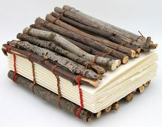 One of a Kind Handmade Book Made with Branches. $75.00, via Etsy. by camispaperie