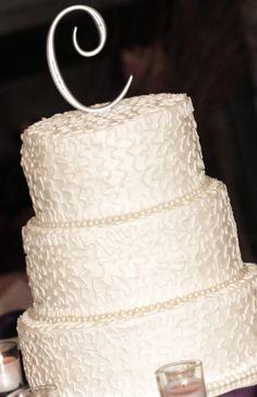 Wedding Cake; Simple Elegance with edible pearls